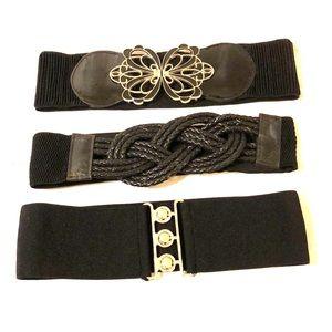 Bundle of 3 waist belts